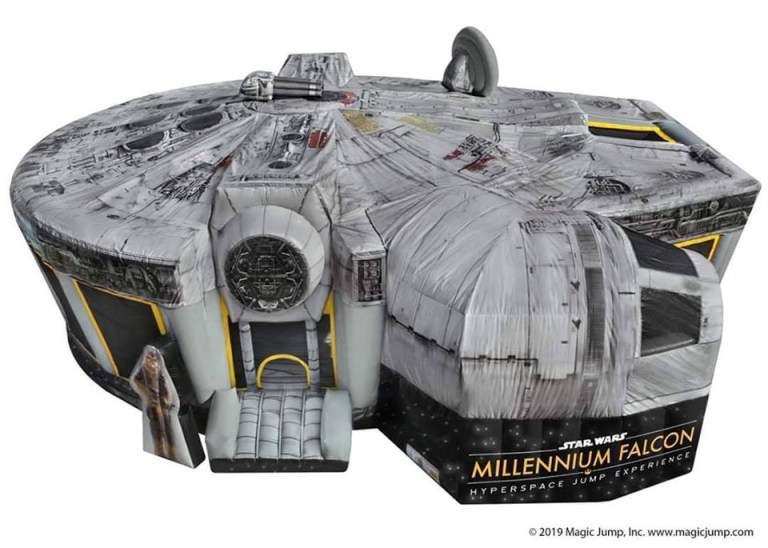 Inflatable Millennium Falcon