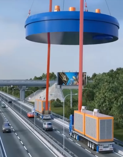 Futuristic Concept Of Heavy Load Transportation